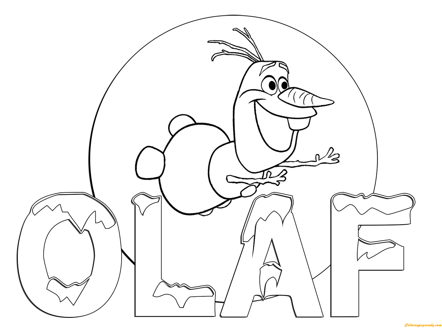 Olaf Flying Coloring Page Free Coloring Pages Online