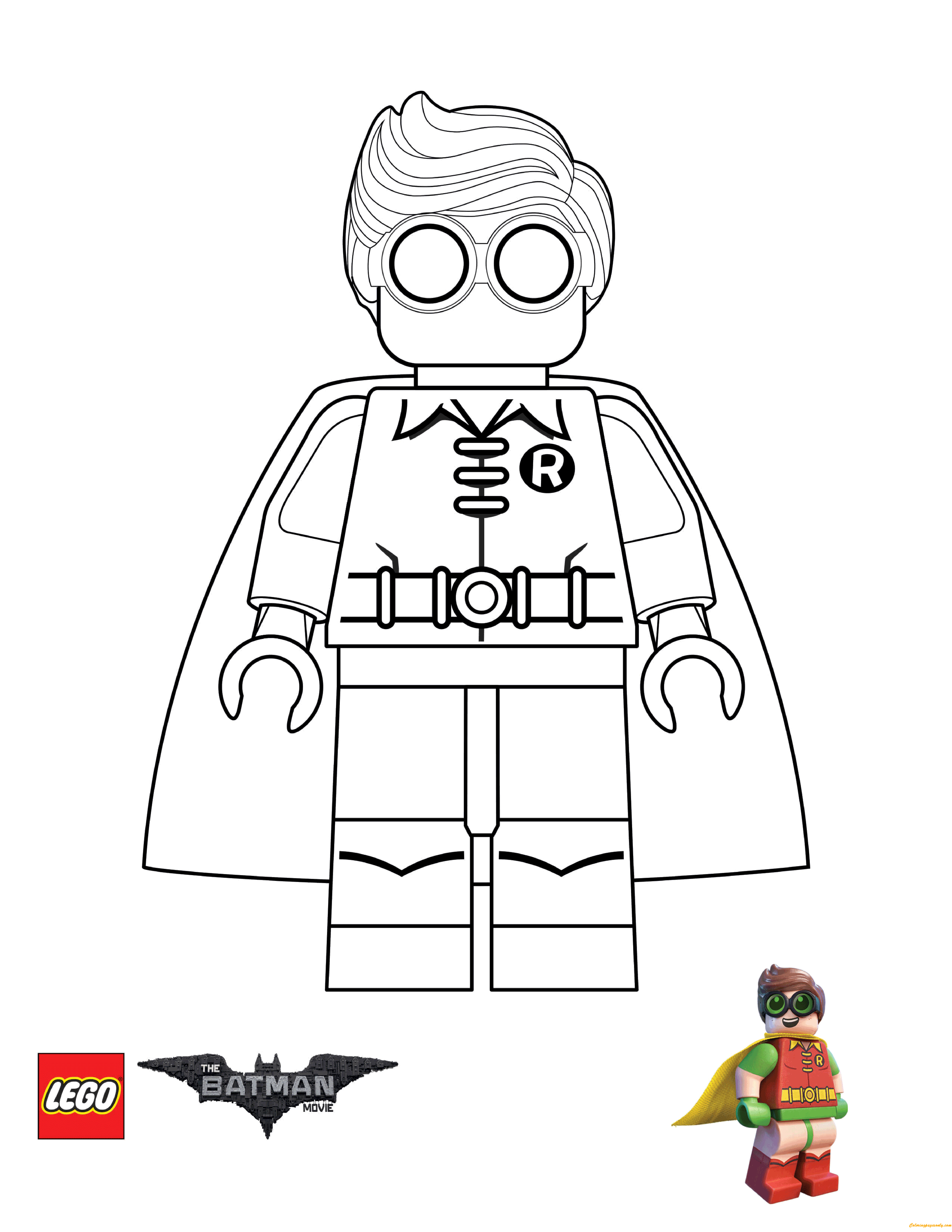 Robin From Lego Batman Movie Coloring Page Free Coloring Pages