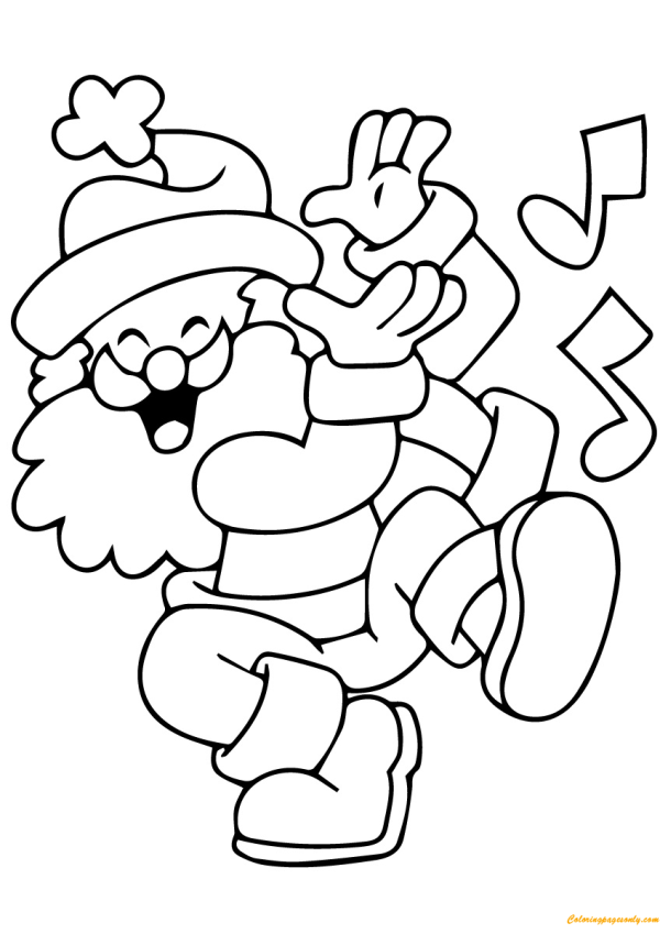 coloring pages of santa claus # 65