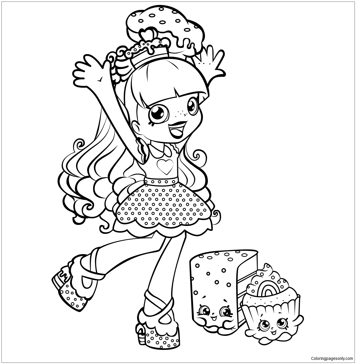 Shoppies Rainbow Kate Shopkins Coloring Page Free Coloring Pages