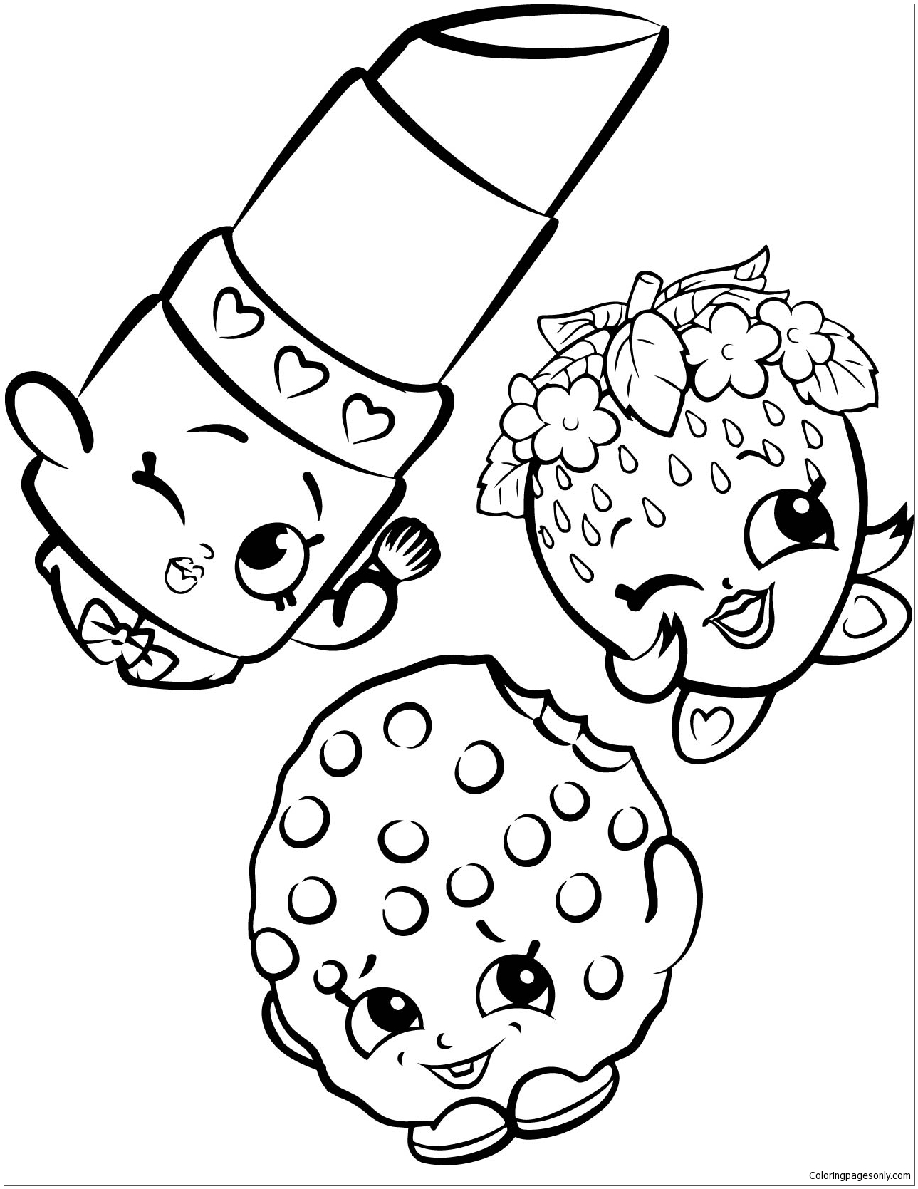 Sweet Shopkins Characters Coloring Page Free Coloring Pages Online