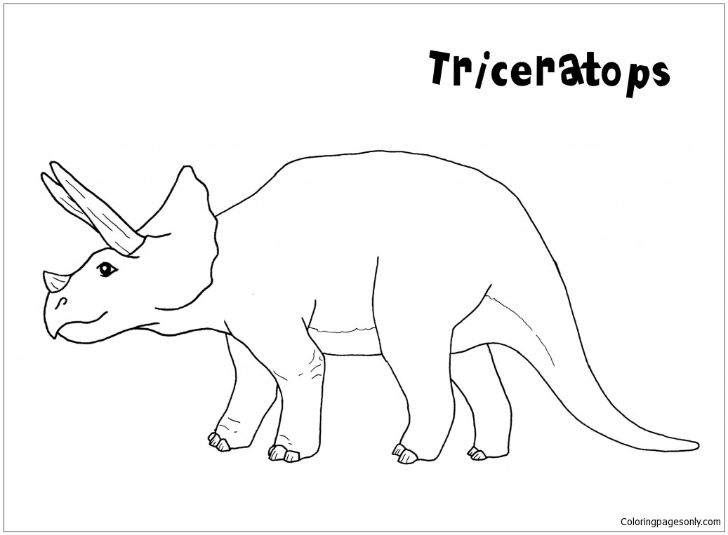 Triceratops Dinosaur 5 Coloring Page Free Coloring Pages Online