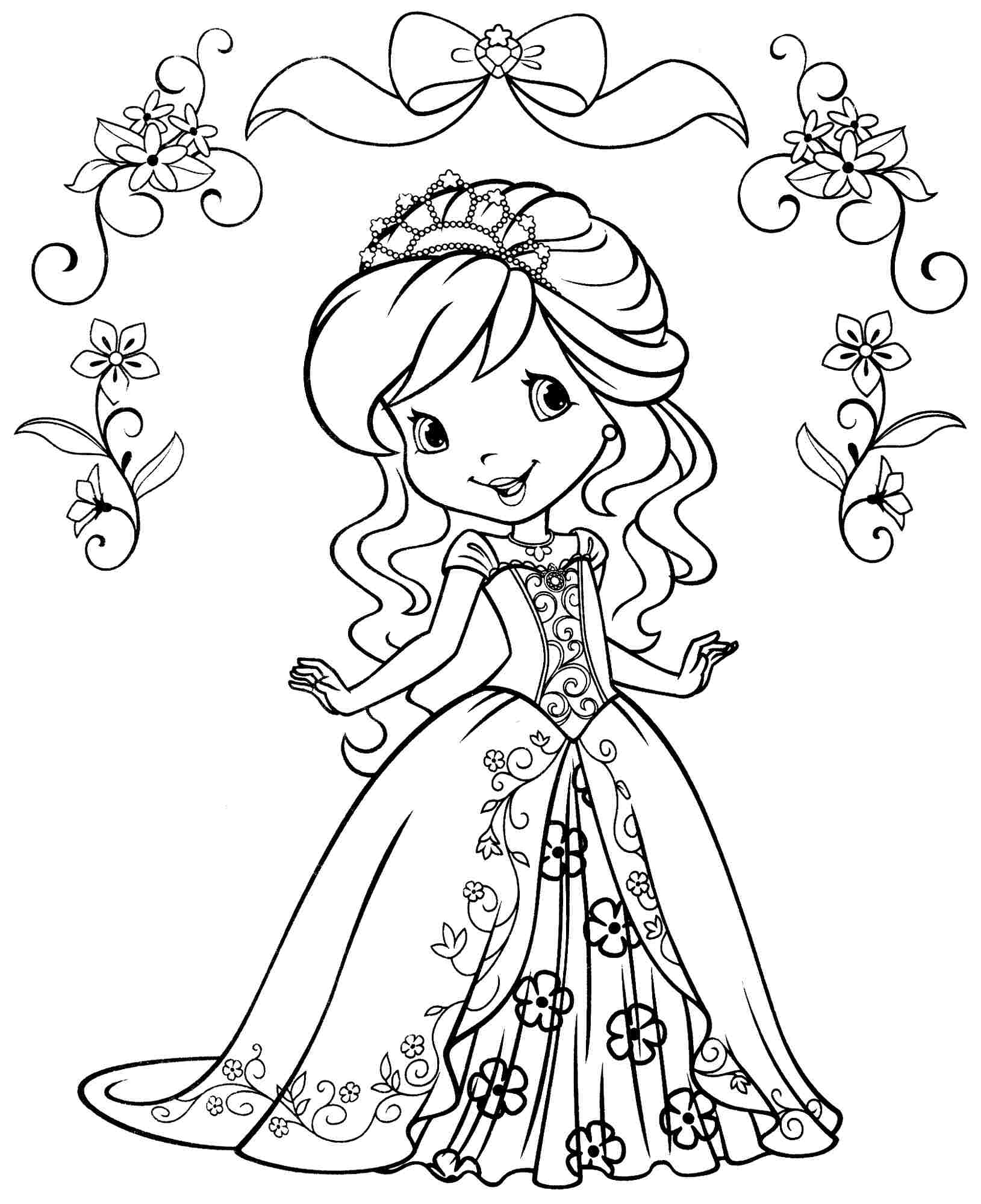 Strawberry Shortcake Valentine Coloring Pages Download And Print