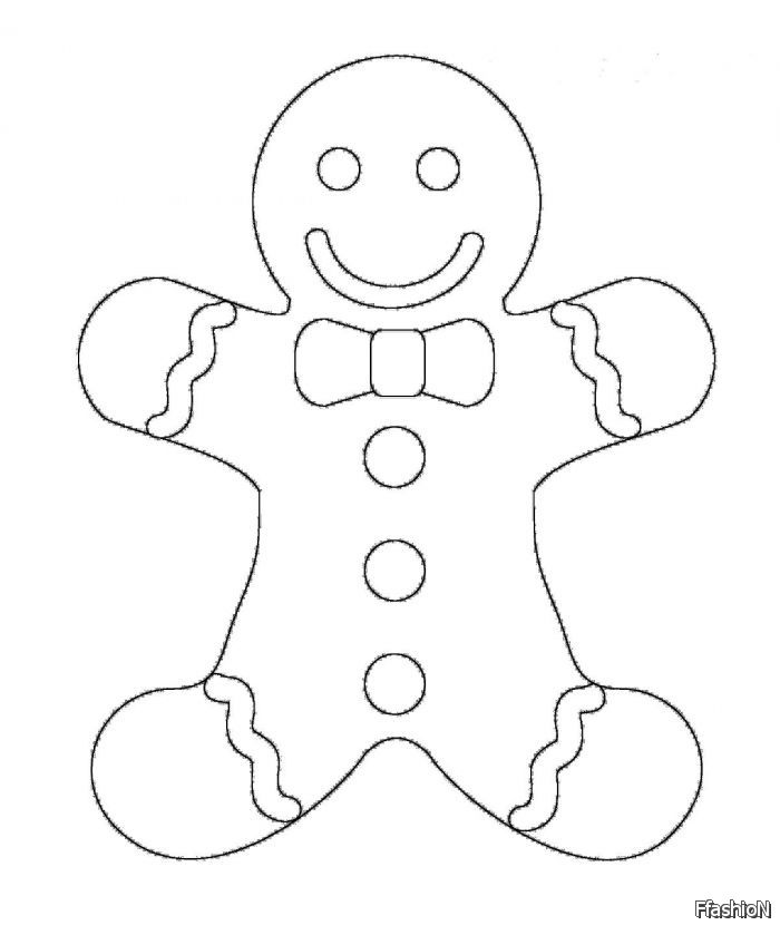 Gingerbread man coloring pages to download and print for free