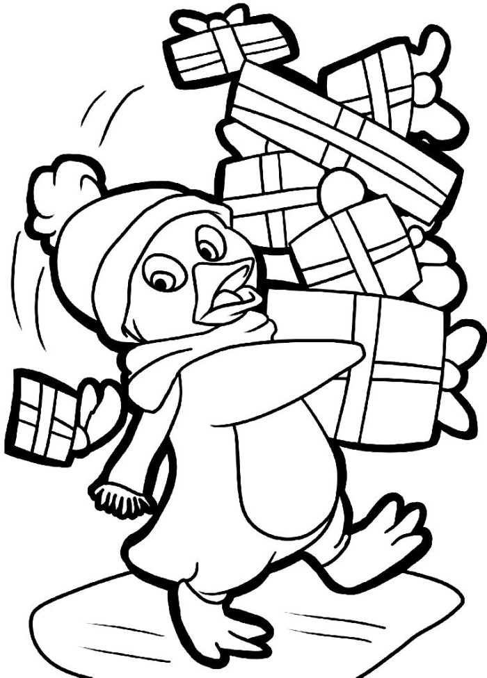 Cute animal christmas coloring pages download and print ...