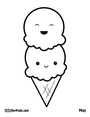 Kawaii coloring pages to download and print for free Kawaii coloring pages