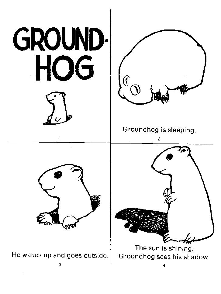 Groundhog Worksheets 1 Grade Day