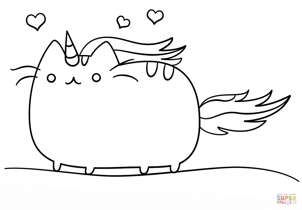 Coloring Mamegoma Pusheen Pages