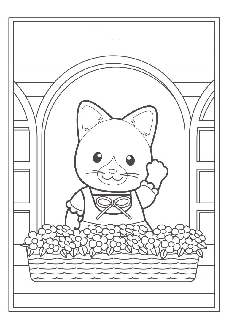 Calico critters coloring pages download and print free, i love mom coloring pages