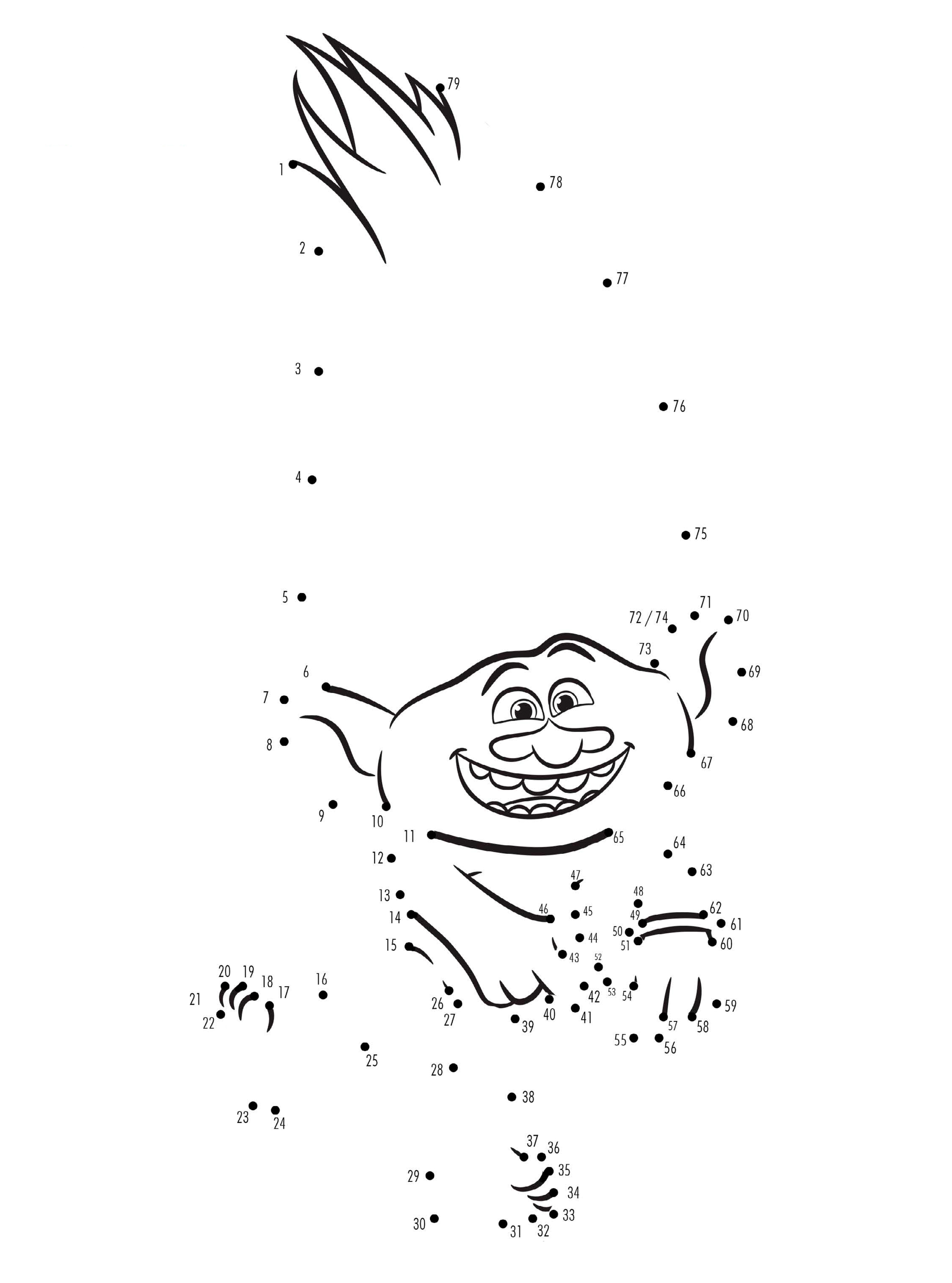 Trolls coloring pages download and print free, cute coloring pages