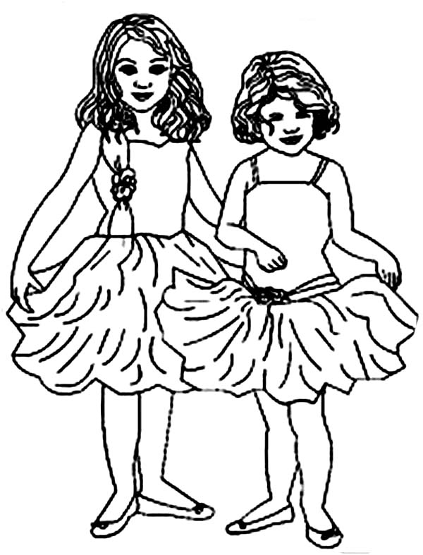 Two little ballerina coloring page color luna, jesus loves you coloring page