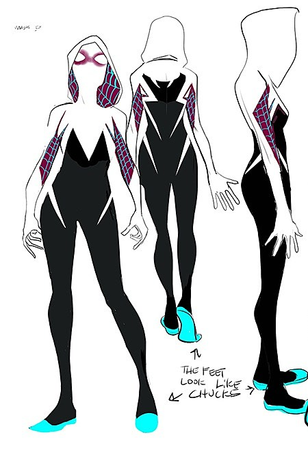Spider Gwen Black Suit