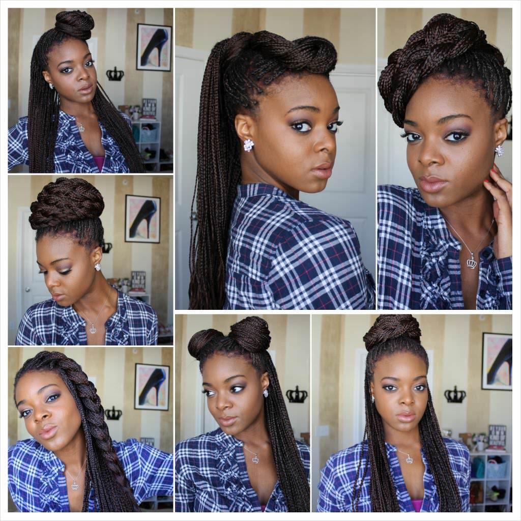 Styling Box Braids 7 Ways [Video] - Black Hair Information ...