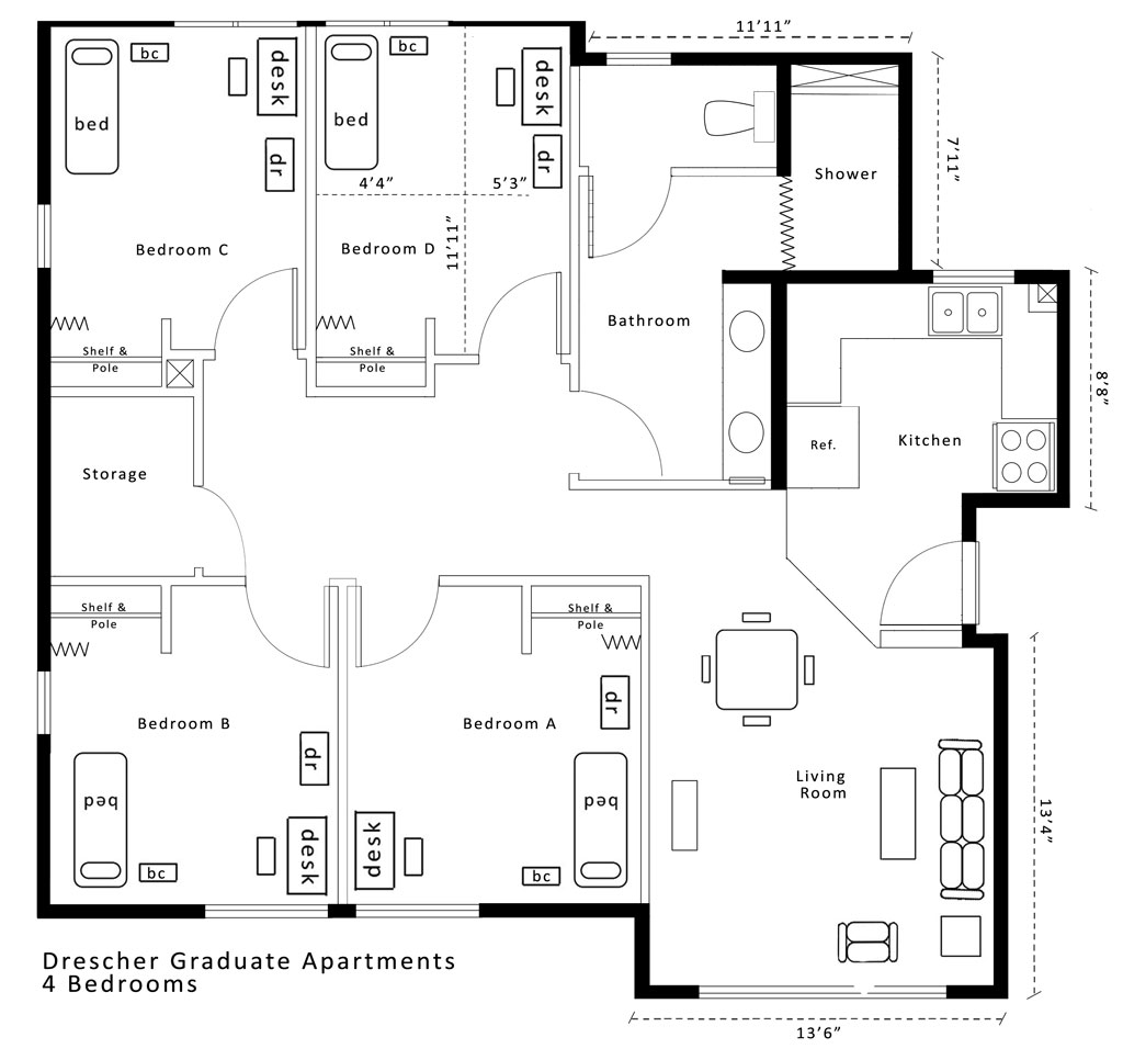 House Plans Closed Kitchens