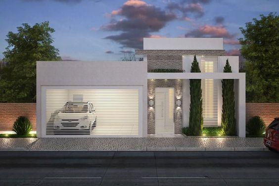 De pequena pequenas casas de dos plantas fachadas cochera con for Fachadas modernas para casas pequenas de dos plantas