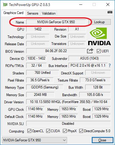 我们使用GPU-Z程序