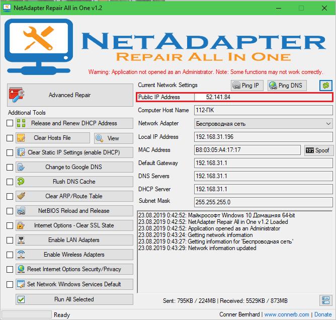 A NetAdapter mindenben javítás