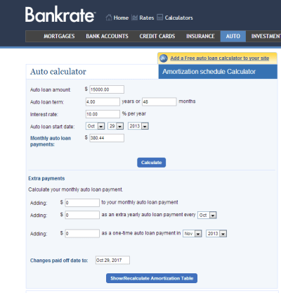 Using a Car Loan Calculator to Select an Auto Loan ...