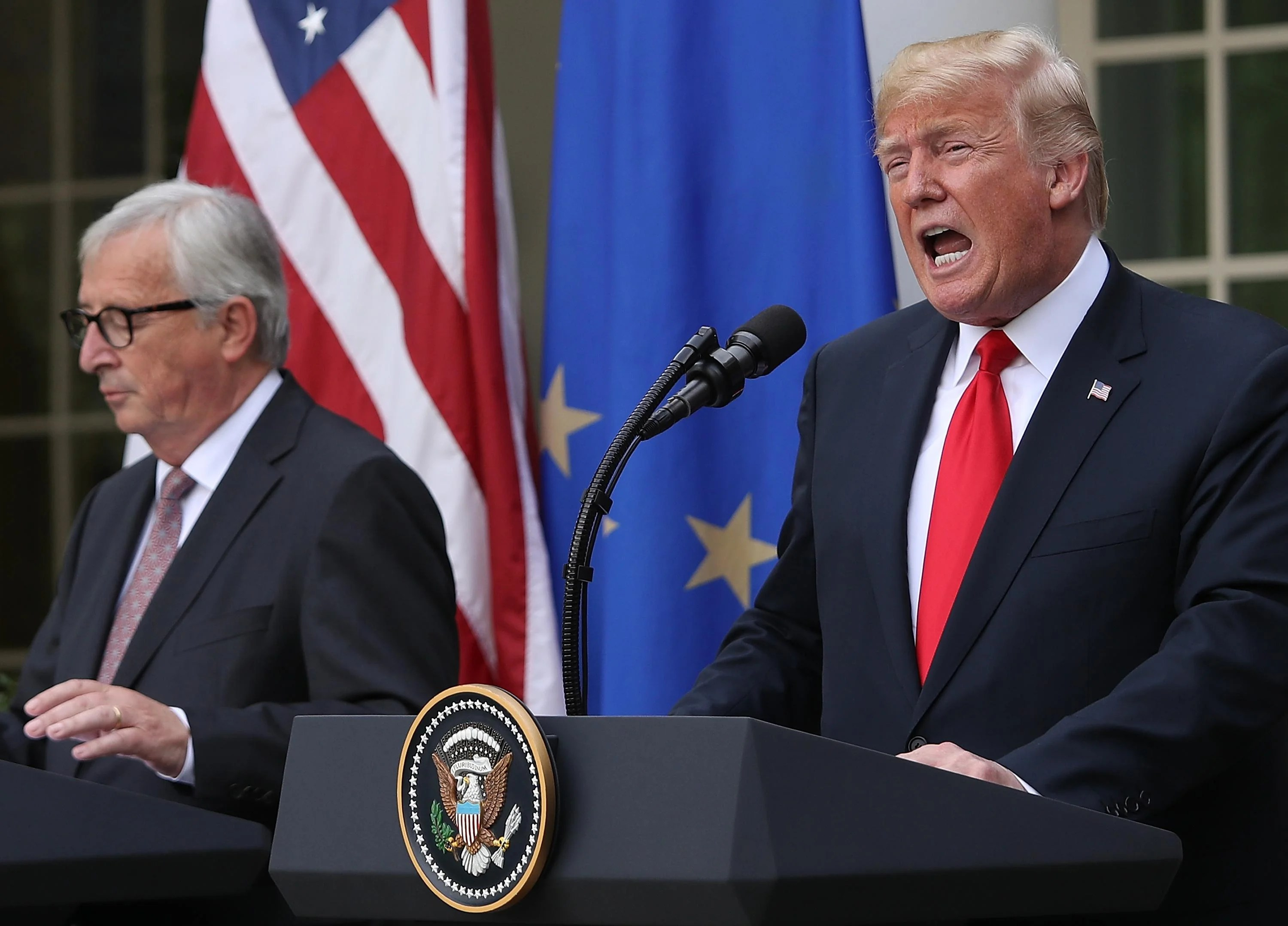 Trump to back down from EU tariffs after meeting with Jean ...