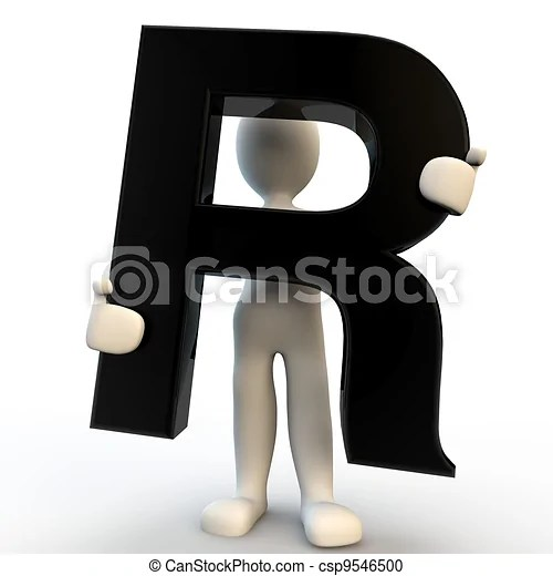 R Stock Photo Images  23 361 R royalty free pictures and photos         3D Human character holding black letter R  small people
