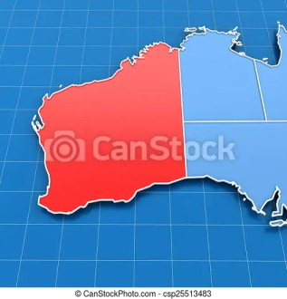 3d render of western australia map  3d render of australia map with     3d render of Western Australia map   csp25513483