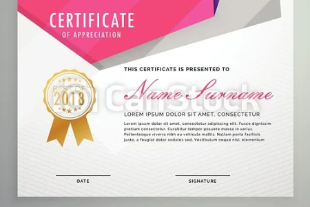 Abstract geometric certificate template design  abstract geometric certificate template design   csp52301798