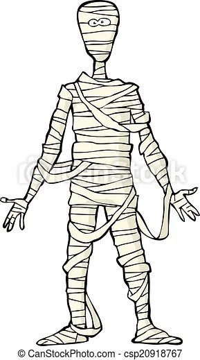 Ancient Egyptian Mummy On White Background Vector