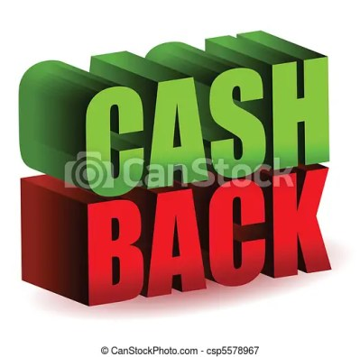 Cash back 3d text illustration design isolated over a ...