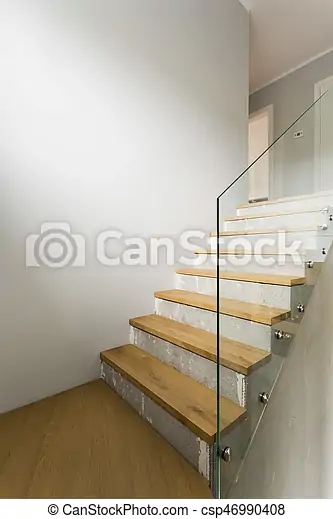 Concrete Stairs In Minimalist Interior Concrete And Wooden Stairs | Glass Balustrade Internal Stairs | Pattern Glass | Glass Balustrading | Handrail | Cast Glass | Landing