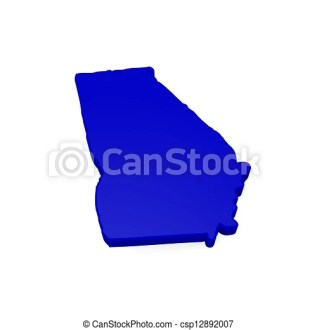 Georgia 3d map  3d map of georgia on a white background  Georgia 3d map   csp12892007