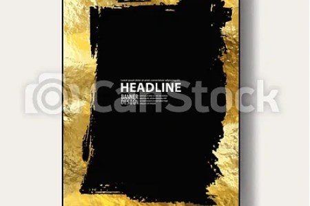 Gold frame banner  beautiful simple golden design  grunge gold and     Gold frame banner  beautiful simple golden design  grunge gold and black  style decorative border  isolated on white background  empty copy space for
