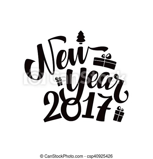 Happy new year calligraphy  Happy new year 2017 calligraphy     Happy New Year Calligraphy    csp40925426