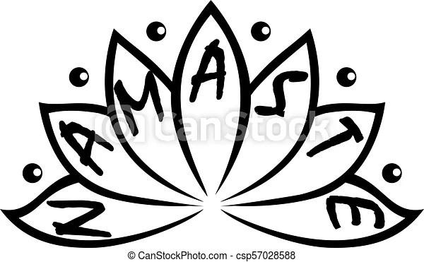 Indian greeting banner namaste.