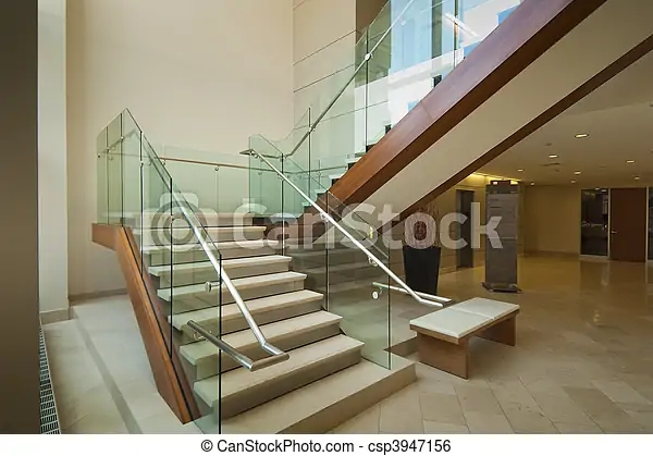 Lobby Staircase Staircase Leading To 2Nd Floor In Modern Office   Stairs Design In Lobby   Entrance Lobby   Foyer   Architectural   Circle Elevator Design Home   White
