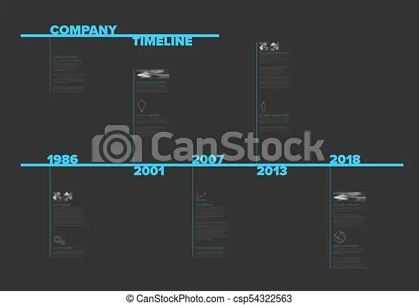 Modern timeline template with nice typography  Vector infographic     Modern timeline template with nice typography   csp54322563