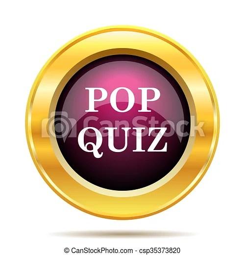 Pop quiz icon. internet button on white background.