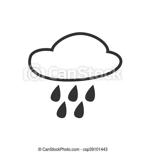 Rain Intermittent Hail Drizzle Shower Weather Forecast Icon Editable Element Creative Item