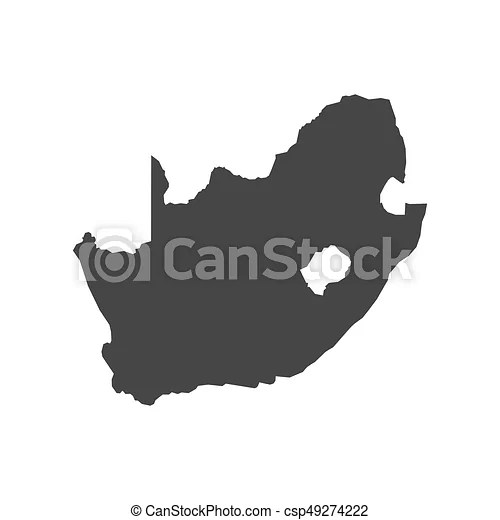 South africa map outline on the white background  vector illustration  South Africa map outline   csp49274222