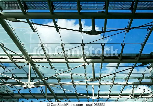 Sunroof Sun Roof With Blue Sky In Business Building