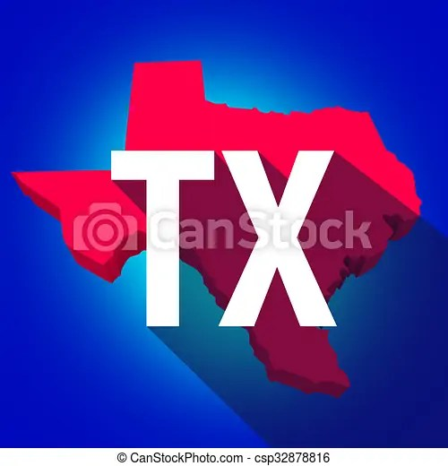 Texas tx letters abbreviation red 3d state map long shadow circle     Texas TX Letters Abbreviation Red 3d State Map Long Shadow Circle    csp32878816