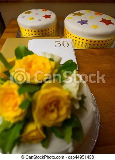 Wedding anniversary cake  50th wedding anniversary cake with number     Wedding Anniversary cake   csp44951438