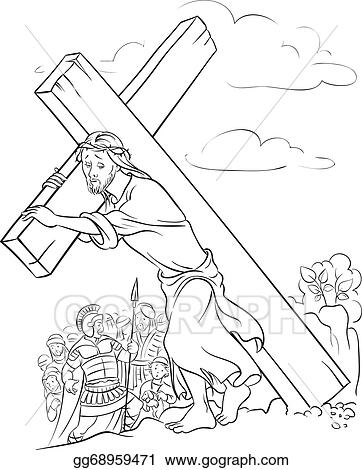 jesus on the cross coloring page # 24