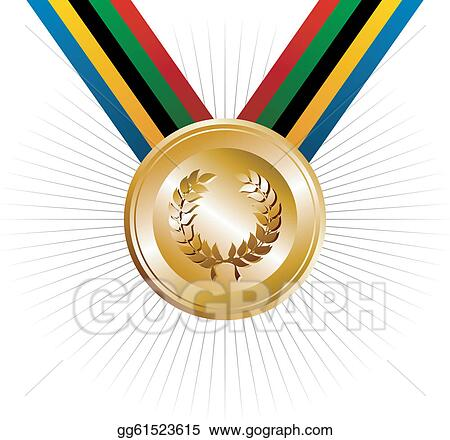 Vector Illustration - Olympics games gold medal with ...