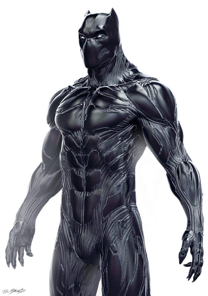 Suit Drawing Black Superhero Panther