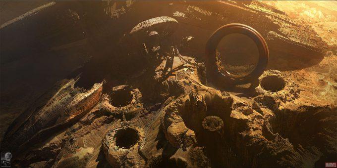 Avengers Infinity War Concept Art By Chris Kesler