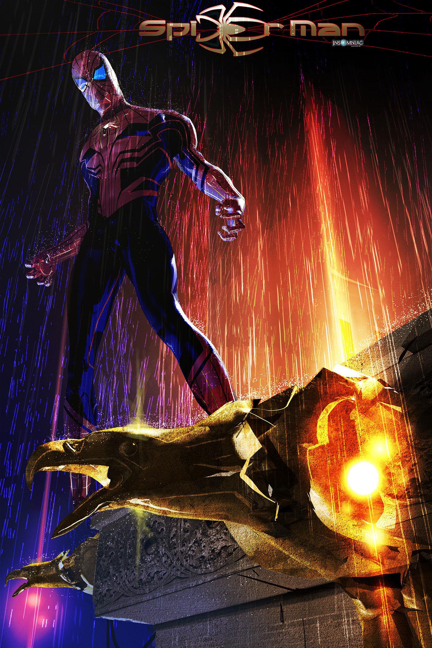 Marvel S Spider Man Ps4 Visual Development Art By Julien