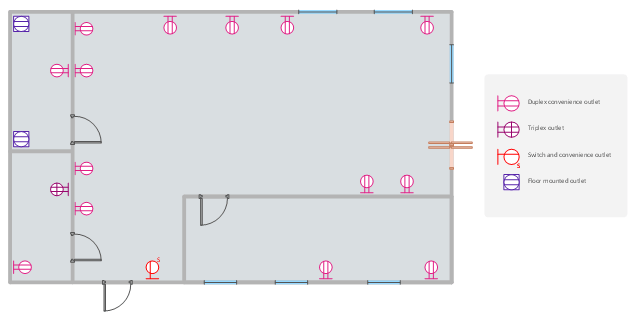 Quad Electrical Outlet Symbol