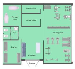 Health Club Floor Plan