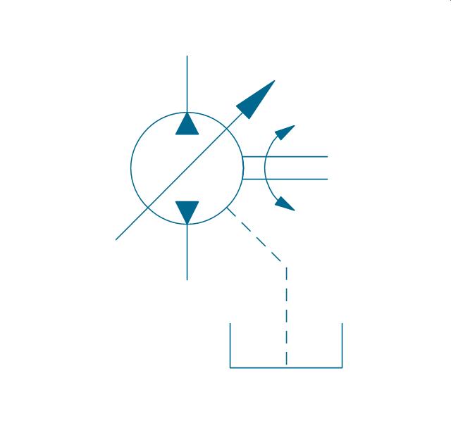 Variable Displacement Pressure Compensated Pump Symbols