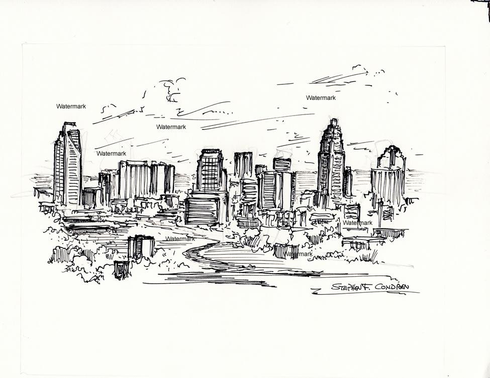 White Black Orlando And Skyline